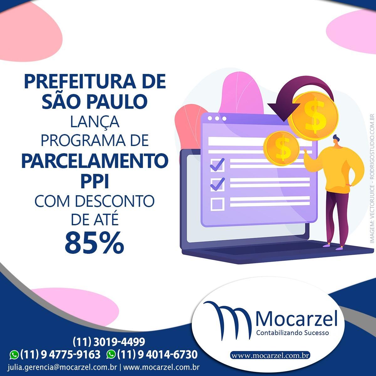 Foto de capa PREFEITURA DE SÃO PAULO LANÇA PROGRAMA DE PARCEMENTO – PPI ATÉ 120 PARCELAS